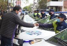 fernando moreira presentó 15 nuevos patrulleros para la policía de la provincia