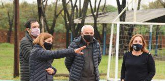 nancy cappelloni recorrio las obras del polideportivo sarmiento junto al intendente fernando moreira
