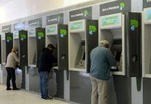cajeros automáticos con la nueva imagen de marca de banco provincia