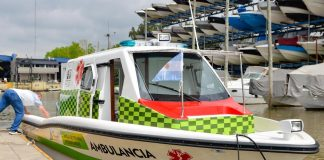 lancha ambulancia